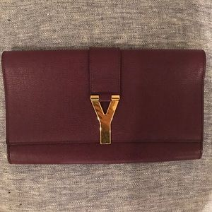 YSL purple clutch